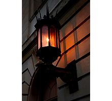 late afternoon sunlit lamp Photographic Print