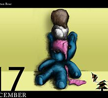 December 17th - Neopolitan Bear. by 365 Notepads -  School of Faces