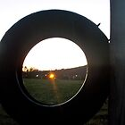 Evening Light Through a Tire by Andrew Baker