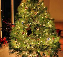 Christmas Tree with Kitty and Gifts by DOGraphics