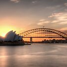 Sunset over Sydney Harbour by Jason Ruth