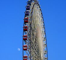 Mei Li Hua Ferris Wheel and Moon by Digby