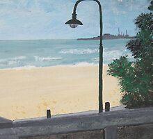 St Kilda Beach - card by Margo Humphries