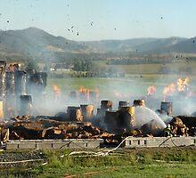 Fire at Visy Paper Mill Tumut 3 by John Vandeven