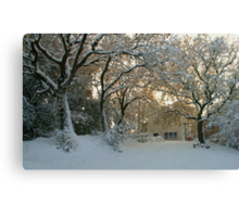 Tuscany Winter Canvas Print