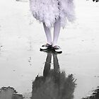 Masquerade - reflection of the black and white swan  by Carole Anne Ferris