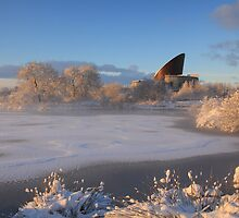 Frozen Lake at the Ecos. by Fred Taylor
