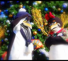 Mr. & Mrs. Santa Claus Penguins by Cherubtree