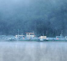 Foggy Hawkesbury River Ferry - NSW Australia by Phil Woodman