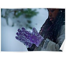 The purple gloves Poster