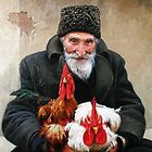 The old man selling roosters. DUM SPIRO, SPERO. by Victor Arseni