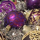 Purple Christmas Baubles by Kiriel