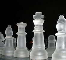 Glass Chess Set by David Carr