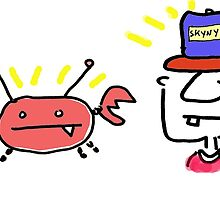 Crabby and Mr. Neckerson Blank Greeting Card of Wonder by Ollie Brock