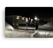 Swedish Snow Plow Canvas Print