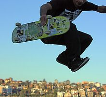 Skater - Bondi Beach Skate Park by Mick Duck