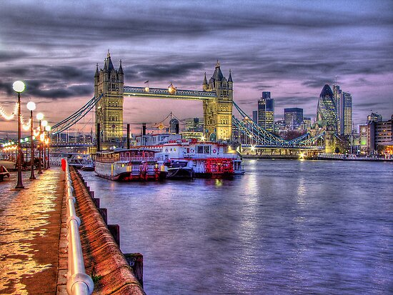 Tower Bridge And River Boats - HDR by Colin  Williams Photography