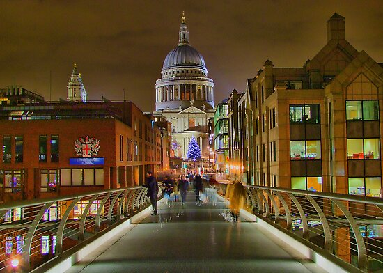 The Bridge To Saint Paul`s - HDR by Colin J Williams Photography