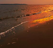sunset at the beach, Seabrook Island, SC by Gerry Daniel