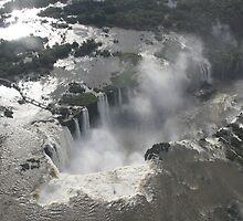 Aerial view of Iguazu Falls, Brazil by Deb22