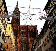 Christmas Angels over Strasbourg by Jamie Alexander