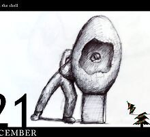 December 21st - through the shell by 365 Notepads -  School of Faces