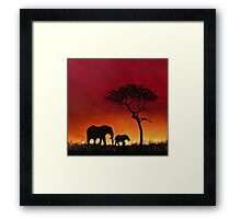 Sunset Stroll! Framed Print