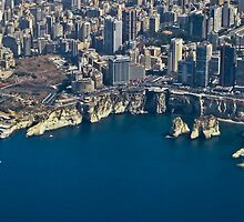 Beirut from sky by Johnny Rizk