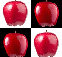 White & Black - Red Apples by Bryan Freeman
