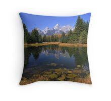 Schwabacher Landing Reflections - The Tetons Throw Pillow