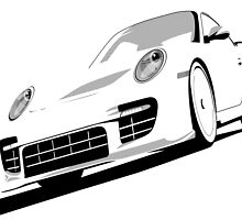 Porsche 911 GT2 White by ArtPrints