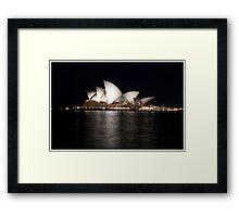 Sydney Opera House At Night. Framed Print