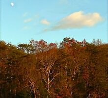 Early Moon Over Cumberland Ridge by paintingsheep
