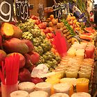 Colorful Boqueria Market in Barcelona by Ilan Cohen