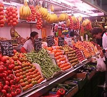 Boqueria market Barcelona - Colorful Vegetables by Ilan Cohen
