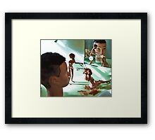 Mandy Oversees A New Recruit's Haircut  (ltd ed) Framed Print
