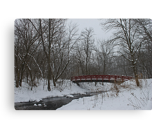 Little Red Foot Bridge Canvas Print