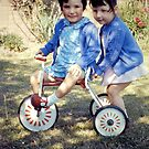 1967 Daughters and Trike by Woodie
