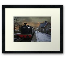 The Steam Train Is In The Station Framed Print