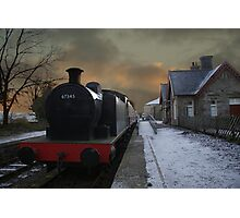 The Steam Train Is In The Station Photographic Print