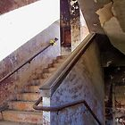Stairway To Yesterday - Abandoned school stairwell by Betty Northcutt