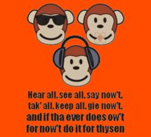 "The Barnsley Proverb ""Hear All, See all Say Nowt"" by taiche"