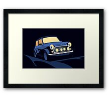 Mini Cooper in Blue Framed Print