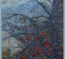 Autumn rain jewels by Sandra Fisher