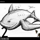 December 22nd - Flying in formation by 365 Notepads -  School of Faces