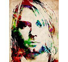 Kurt Cobain Urban Watercolor Photographic Print