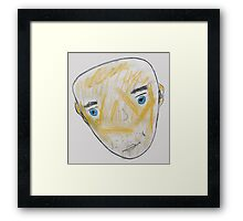 Blue-Eyed Bald Man Framed Print