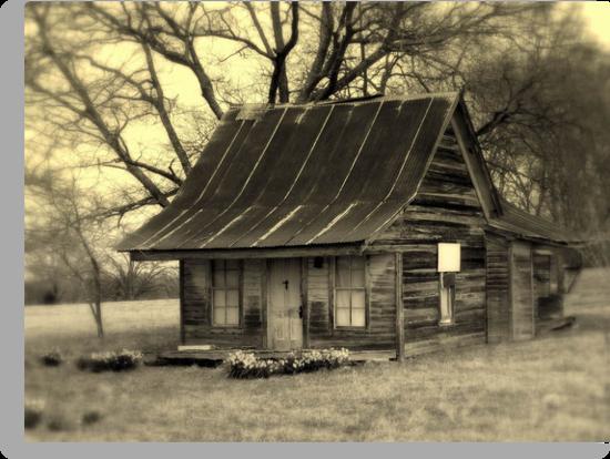 Vintage Dollhouse Cabin by Dawn di Donato