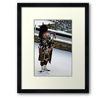 Piper in the snow Framed Print