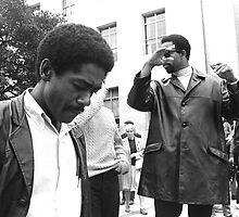 bobby seale and eldridge cleaver by mel zimmer